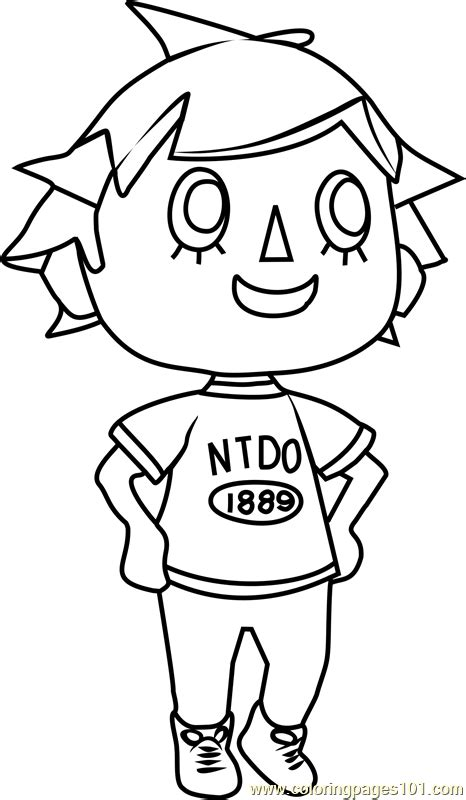coloring pages of animal crossing new leaf player animal crossing coloring page free animal