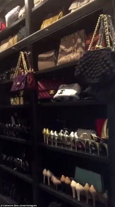 Catherine Closet by Catherine Zeta Jones Gives Tour Of Cavernous Closet
