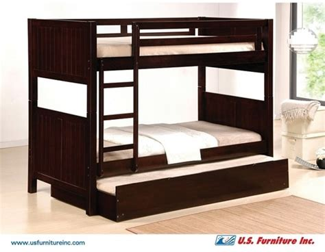 Twin Bunk Bed W Pull Out Bed Trundle Faheem Yousef Pull Out Bunk Bed