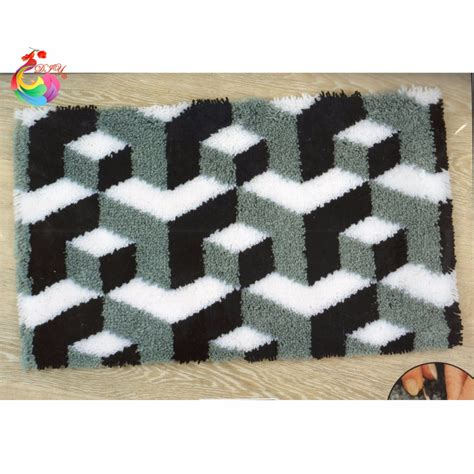 latch rugs embroidered cushion kits latch hook rug kits crochet hook embroidery wool for felting carpets
