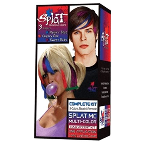 splat hair color multi colored temporary hair color styles washes hair style images