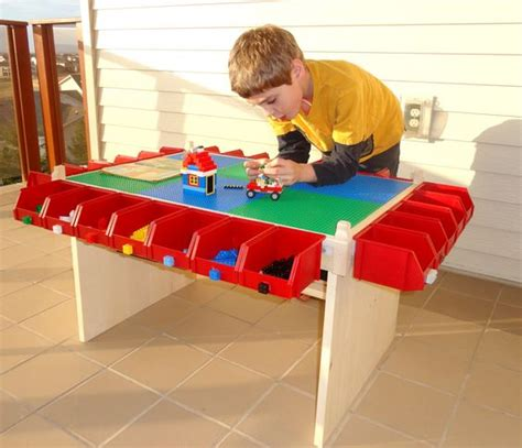 lego table with plastic drawers lego table i wonder if the little plastic holders from