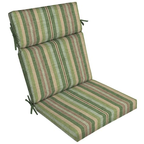 Shop Allen Roth Multi Eucalyptus Stripe High Back Patio Patio Chair Cushions