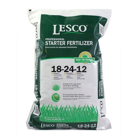 lesco    starter fertilizer  lbs