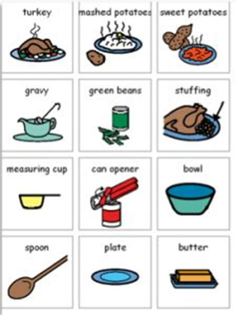 printable boardmaker recipes free thanksgiving visual recipes thanksgiving autism