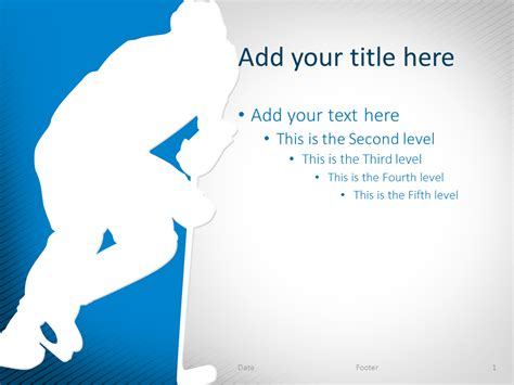 hockey powerpoint template blue presentationgo com