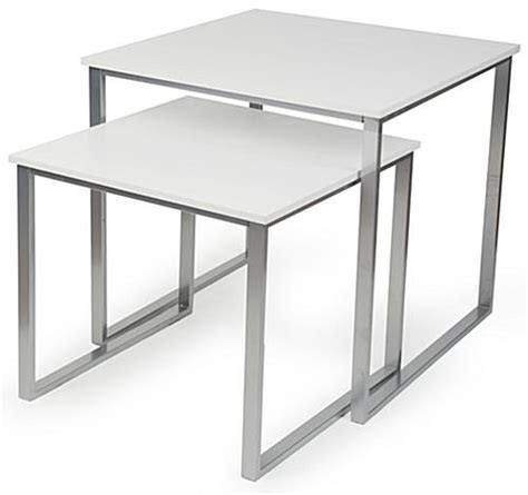 retail nesting tables set of 2 square displays