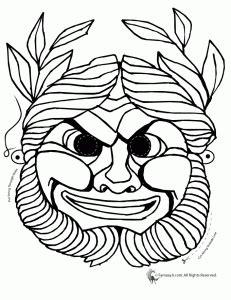ancient masks template cc masks coloring 3 231x300 masks printables