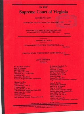 Virginia State Court Records Virginia Supreme Court Records Volume 265 Virginia Supreme Court
