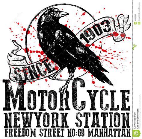 Tshirt Bird Classic Logo vintage motorcycle club logo graphic design for t
