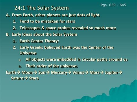 chapter 24 section 2 chapter 24 section 1 our solar system