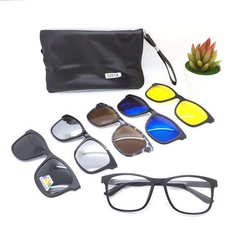 Kacamata Clip On 1 Kacamata 5 Lensa 5 kacamata clip on 5in1 magnetic trendy priakeren id