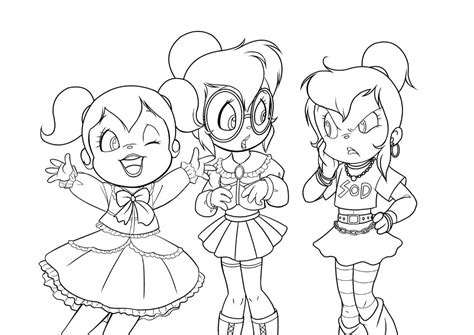 Free Coloring Pages Of Les Chipettes Chipettes Coloring Pages