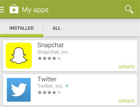 how to update android apps on updating snapchat app on ios and android androidability