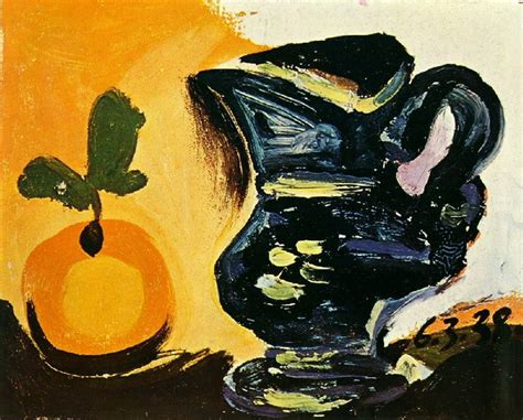 pablo picasso nature paintings pablo picasso still with pitcher 1938