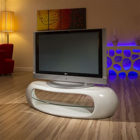 ultra modern curved tv stand cabinet unit large 1 4mtr grey gloss 1162 ebay