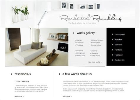 interior design web templates how to choose the best interior design website template