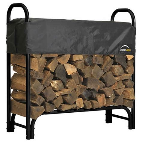 Small Firewood Rack by Shelterlogic Outdoor Log Rack Small In Outdoor Firewood
