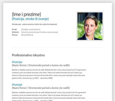 format obrazac za cv resume format template za cv na srpskom