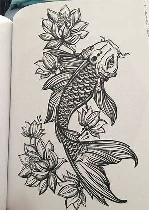 koi fish tattoo designs black and white image result for black and white koi fish designs