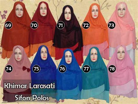 Jilbab Khimar Larasati khimar syria syar i jumbo model bolak balik dua warna
