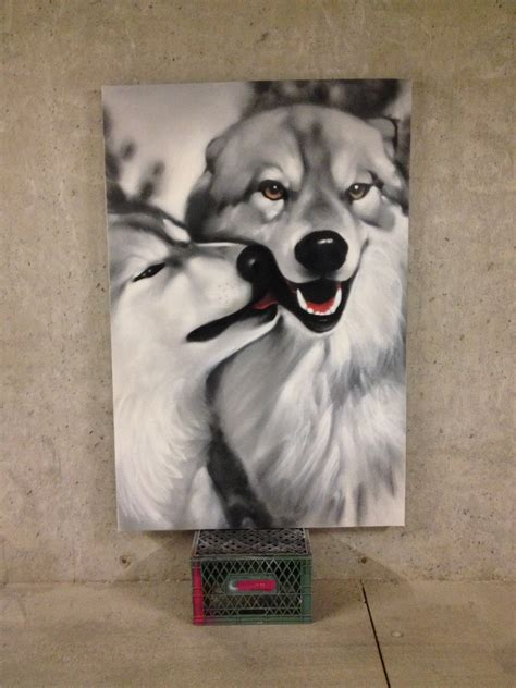 spray paint wolf wolf spraypaint portraits commissioned by moonlight