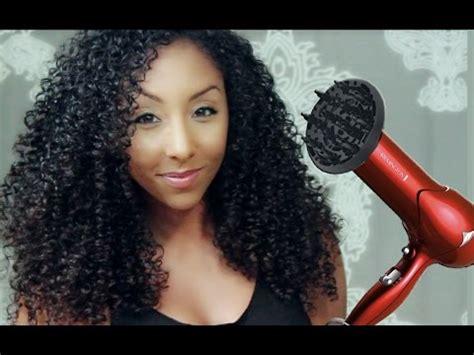 big curly hair   diffuser