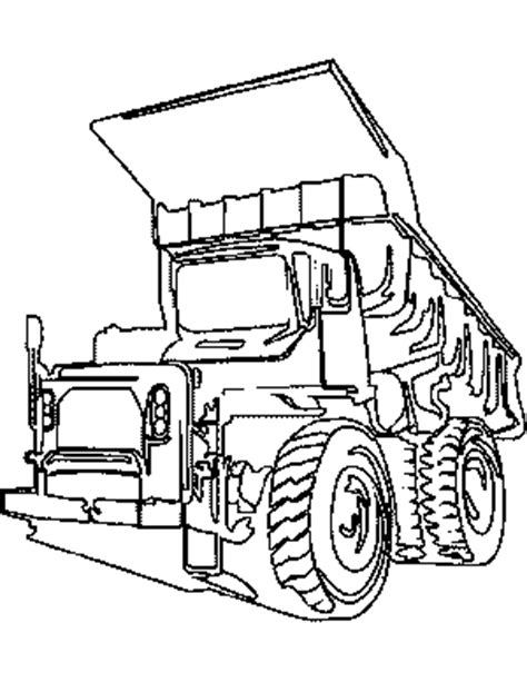 coloring page big truck pin printable dump truck invitations pictures on pinterest