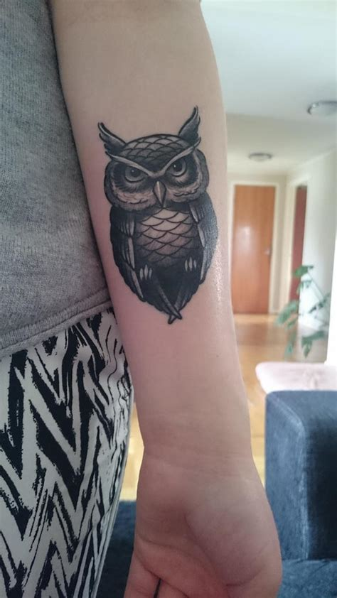 tattoo lower arm simple 65 latest owl tattoos for hot girls golfian com