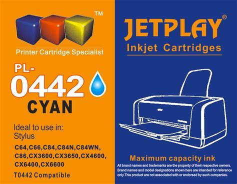 F1 Ink For Epson L Series Photo Cyan 100m epson compatible t0442 cyan no vat on price