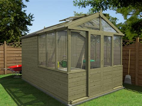 Greenhouse Garden Shed Combo by Our New Greenhouse Shed Combo Range Dunster House