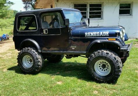 jeep cj renegade 1985 jeep cj 7 renegade