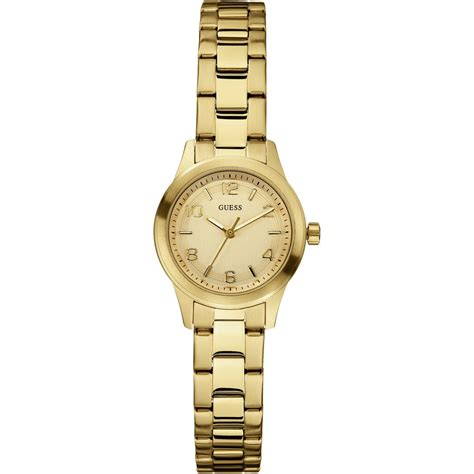 Ladies' Micro Spectrum Gold Tone Bracelet Watch W85084L1   Guess from British Watch Company UK