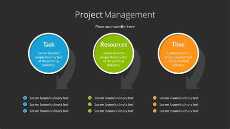 Project Management Powerpoint Presentation Template By Sananik Graphicriver Powerpoint Templates Project Management