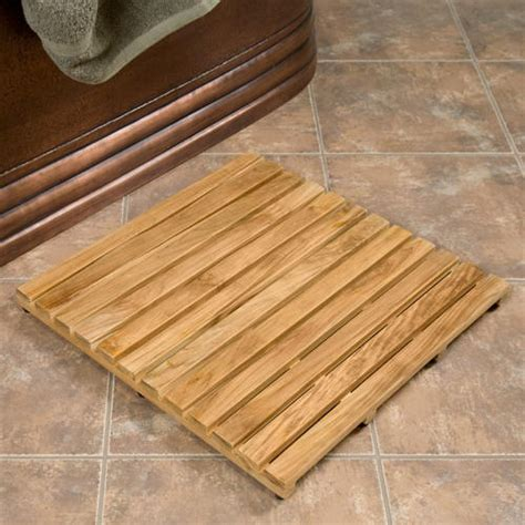 Mat Wood by Wood Shower Mat Give A Accent To Your
