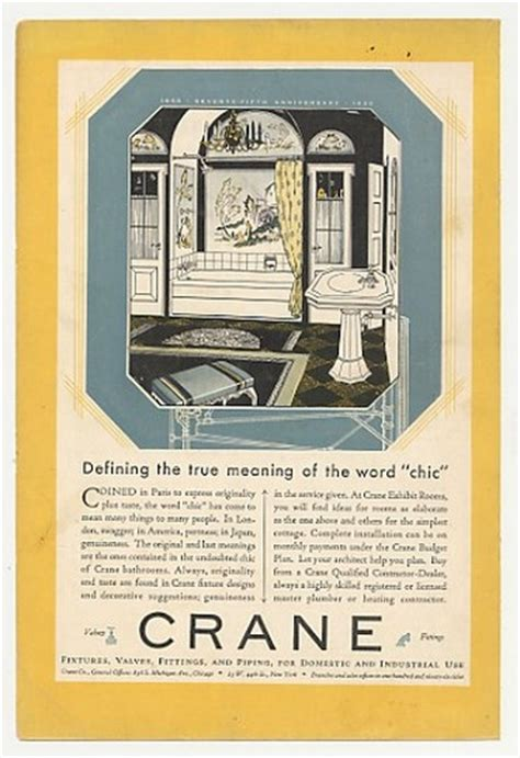 meaning of bathroom 1930 crane bathroom defining meaning of chic ad ebay