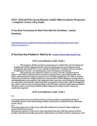 Reviews Of Wgu Mba by Wgu Aft2 Raft2 Accreditation Audit Mba Graduate Programe