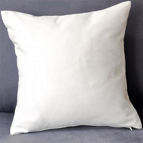 white cusion plain white color pure cotton twill cushion cover with