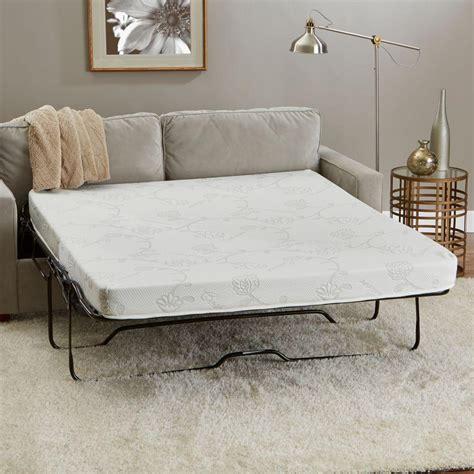 innerspace luxury products 58 in w x 72 in l size memory foam sofa mattress sm 5872