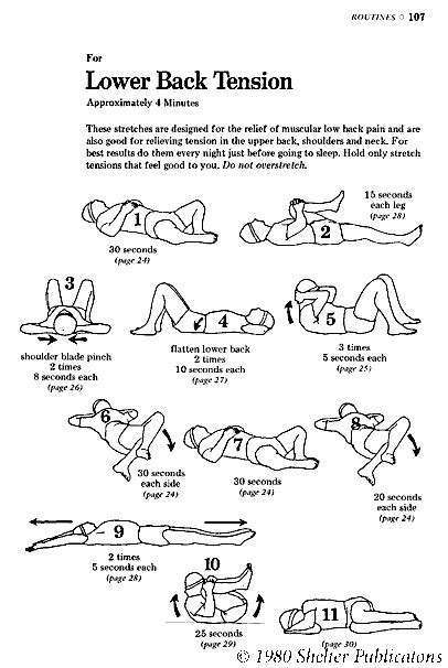 lower back stretches in bed back pain exercises obedientlifestyle