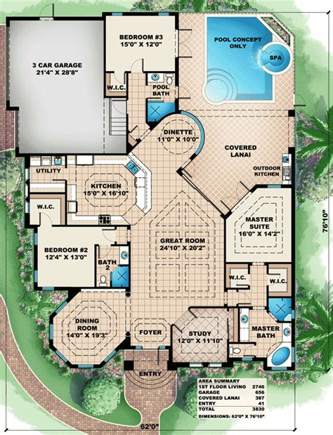 corner house floor plans great for a corner lot 66282we architectural designs house plans