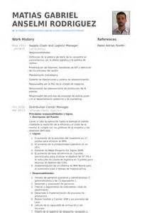 Sle Resume For Supply Chain Manager by Exemple Cv Anglais Supply Chain Manager Document