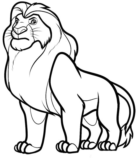 simba coloring pages az coloring pages
