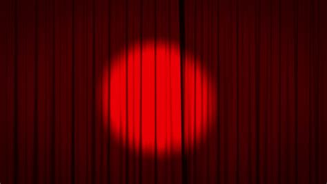 curtains spotlight realistic animation of a red curtain with spotlight