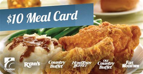Hometown Buffet Gift Cards - 50 buffet restaurant vouchers for ryan s country buffet more page 8 slickdeals net