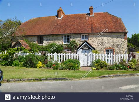 Sussex Cottage by Cottage At Alfriston East Sussex Gb Stock Photo