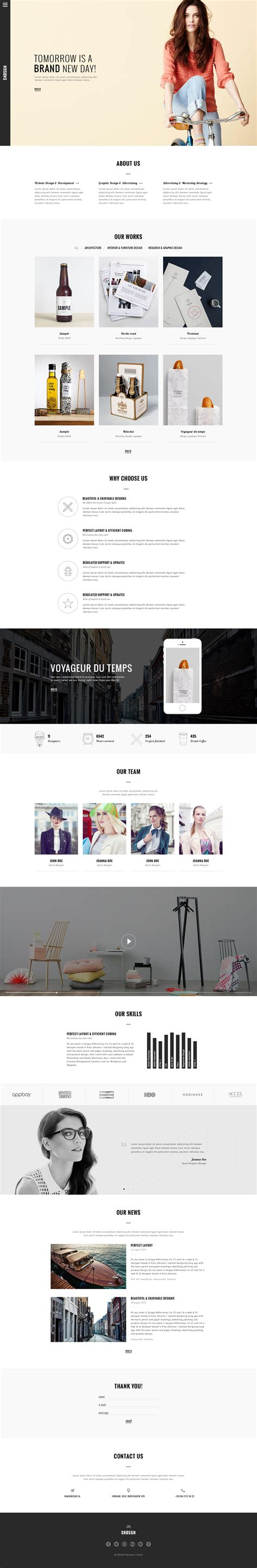 Free One Page Website Psd Template Graphicsfuel Single Page Website Template Free