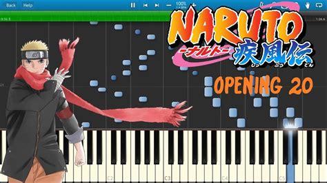 naruto opening themes naruto shippuden opening 20 piano chords chordify