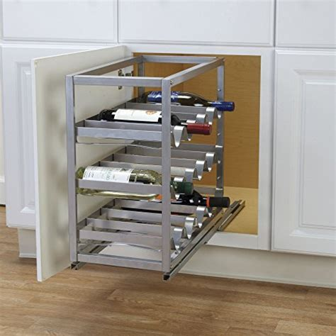 wine bottle cabinet pulls household essentials brushed metal cabinet pull out wine