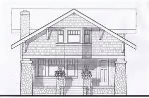 Arts And Crafts Home Plans by First Architecture Assignment 10 Front Elevation